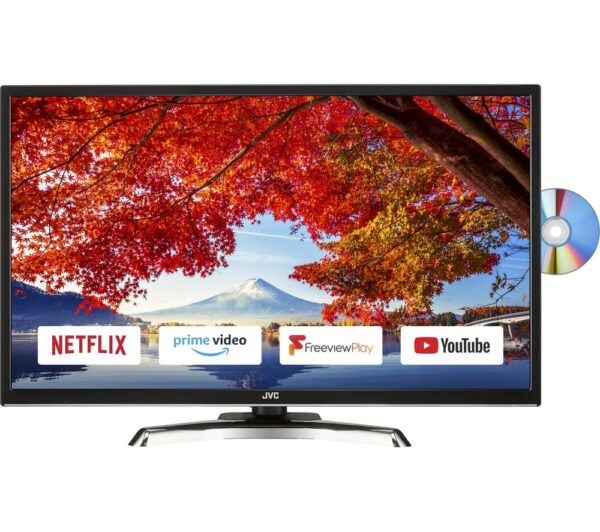 "32"" JVC LT-32C795 Smart LED TV with Built-in DVD Player"