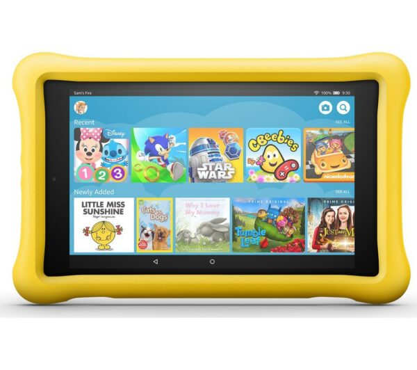 "AMAZON Fire HD 8"" Kids Edition Tablet (Oct 2018) - 32 GB, Yellow, Yellow"