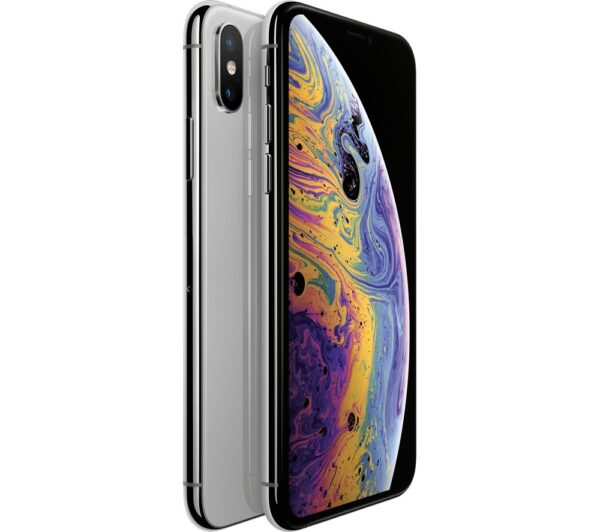 APPLE iPhone Xs - 64 GB, Silver, Silver