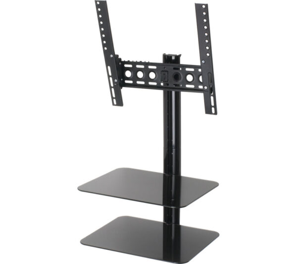 AVF ESL422B TV Bracket with AV Shelving - Black, Black