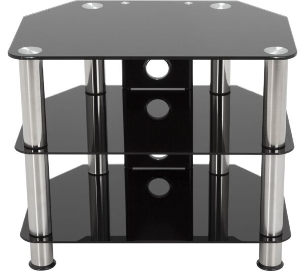 AVF SDC800CM TV Stand - Black & Chrome, Black