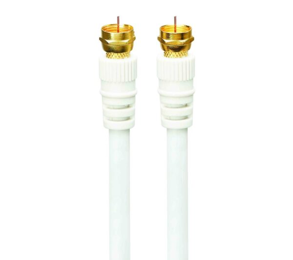 LOGIK Satellite F Plug Cable - 4 m, Gold