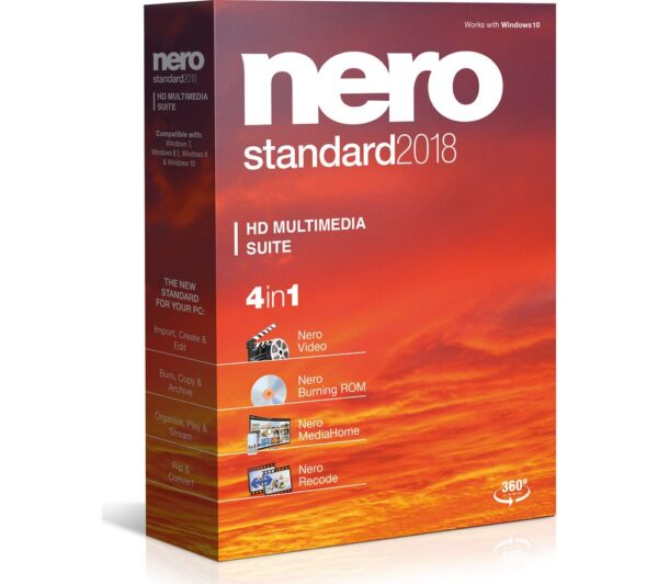 NERO Standard 2018 - Lifetime for 1 device, Black