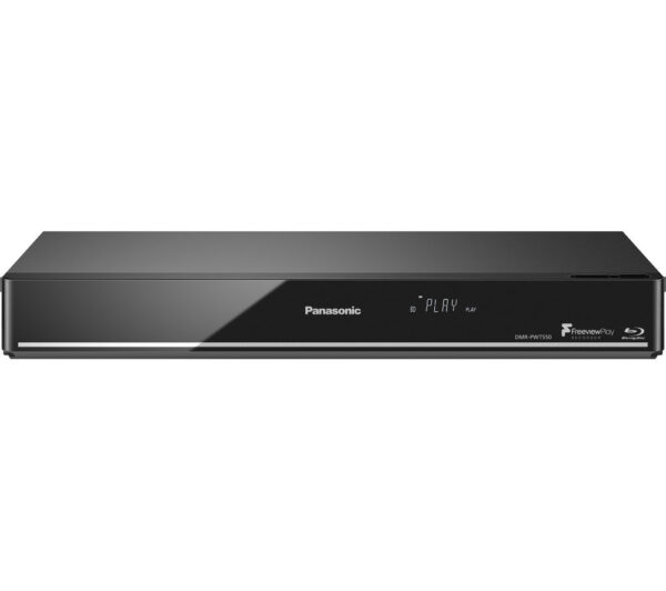 PANASONIC DMR-PWT550EB Smart 4k Ultra HD 3D Blu-ray Player with Freeview Play Recorder - 500 GB HDD, Silver