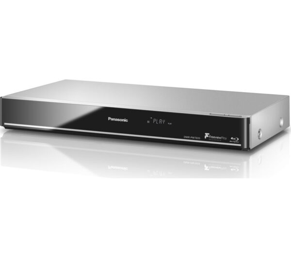 PANASONIC DMR-PWT655EB Smart 3D Blu-ray & DVD Player with Freeview Play Recorder - 1 TB HDD