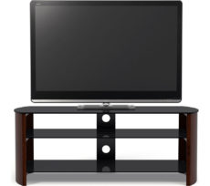 SANDSTROM S1250CW15 TV Stand, Black & walnut