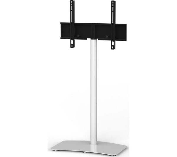 SONOROUS Contemporary PL2800-WHT 650 mm TV Stand with Bracket - White, White