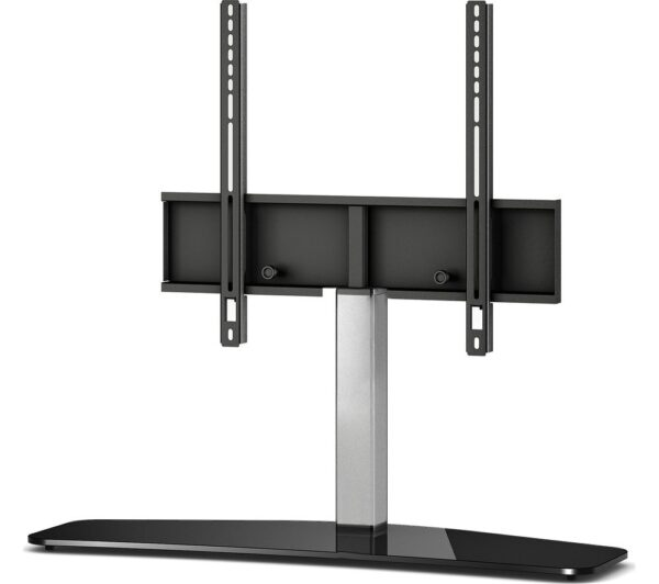 SONOROUS Curved PL2335 B-SLV 900 mm TV Stand with Bracket - Black & Silver, Black