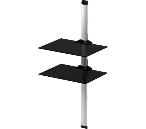 SONOROUS PL2620 Twin Shelf Support System - Black & Silver, Black