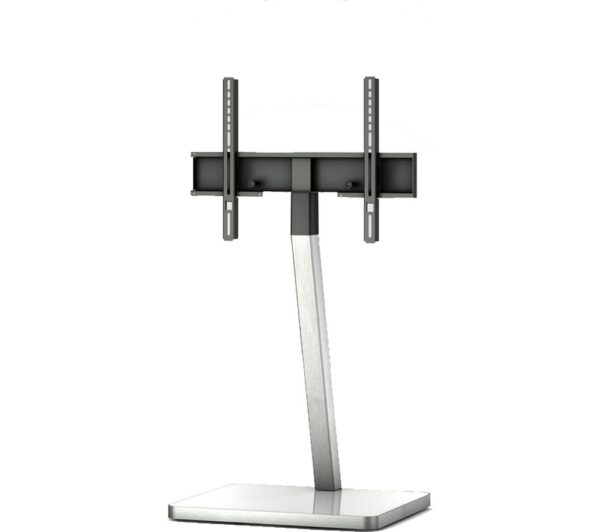 SONOROUS PL2700-WHT Cantilever 600 mm TV Stand - White & Silver, White