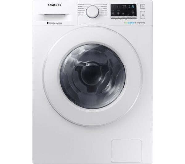 Samsung Washer Dryer WD80M4B53IW/EU 8 kg - White, White