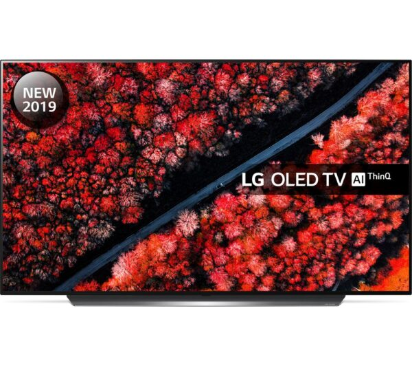 "65"" LG OLED65C9PLA Smart 4K Ultra HD HDR OLED TV with Google Assistant, Black"
