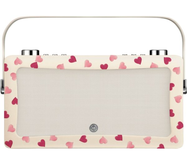 EMMA BRIDGEWATE by EMMA BRIDGEWATEr VQ Hepburn Mk II Portable DAB� Bluetooth Clock Radio, Pink