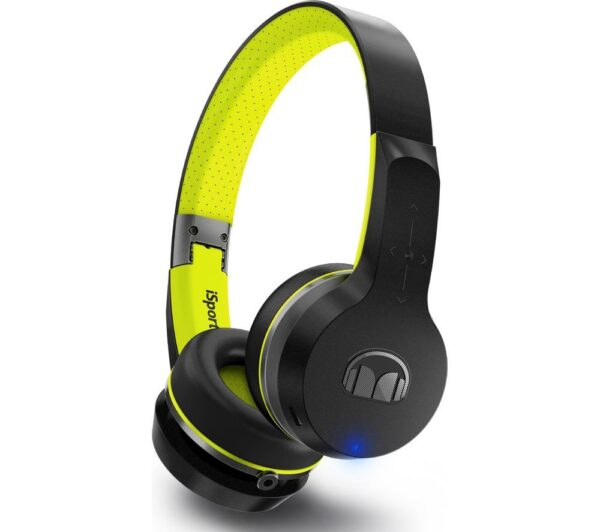 MONSTER iSport Freedom Wireless Bluetooth Sports Headphones - Black & Green, Black