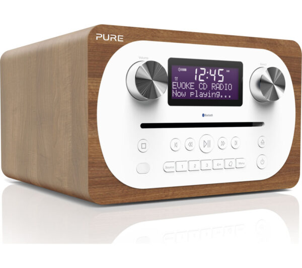 PURE Evoke C-D4 DAB� Bluetooth Radio - Walnut