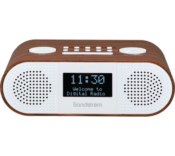 SANDSTROM S-DBTW18 DAB� Bluetooth Clock Radio - Wood