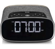 VQ Lark DAB+/FM Bluetooth Clock Radio - Walnut