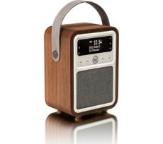 VQ Monty Portable DAB� Bluetooth Clock Retro Radio - Walnut