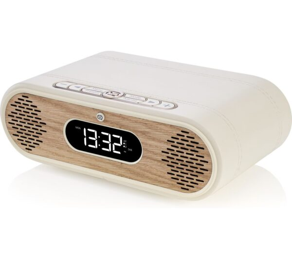 VQ Rosie-Lee DAB+/FM Bluetooth Clock Radio - Cream & Oak, Cream