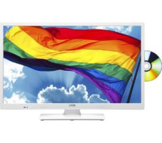 "24"" LOGIK L24HEDW19 HD Ready LED TV with Built-in DVD Player - White, White"