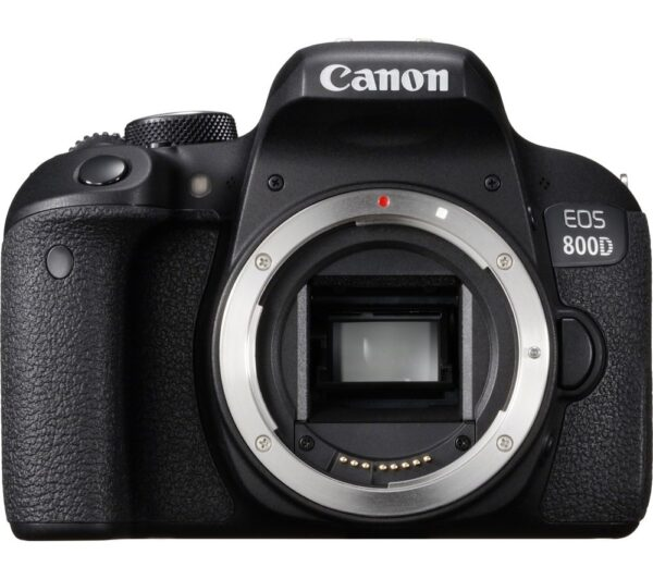 CANON EOS 800D DSLR Camera - Black, Body Only, Black