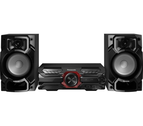 PANASONIC SC-AKX320E-K Bluetooth Megasound Party Hi-Fi System - Black, Black