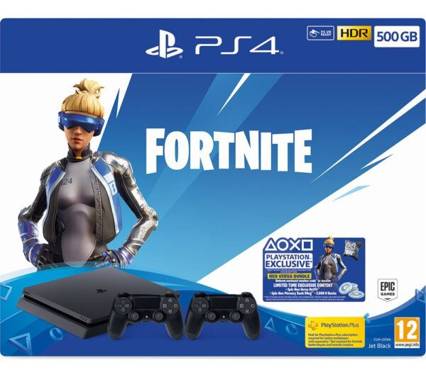 SONY PlayStation 4 with Fortnite Neo Versa - 500 GB, Black