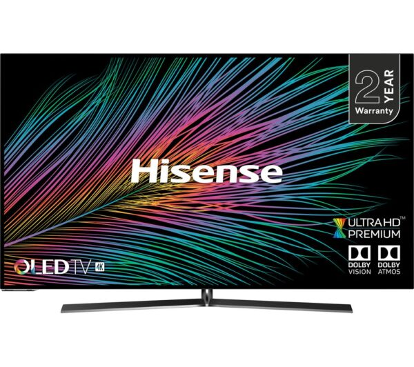 "55"" HISENSE H55O8BUK Smart 4K Ultra HD HDR OLED TV"