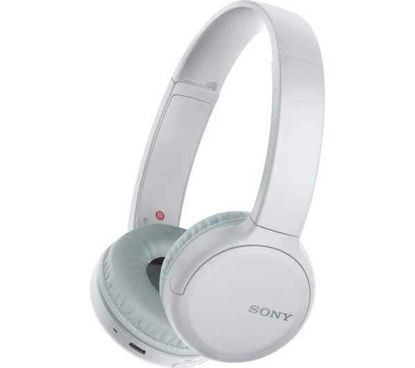 SONY WH-CH510 Wireless Bluetooth Headphones - White, White