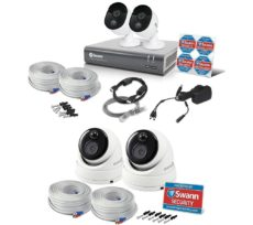 SWANN SWDVK-445802V-UK Smart Security System & Dome Camera Twin Pack Bundle