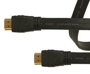 Sharpview Flat HDMI to HDMI Cable Black 3m