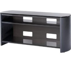 ALPHASON Finewoods FW1100 1100 mm TV Stand - Black Oak, Black