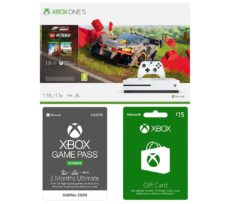 MICROSOFT Xbox One S, Forza Horizon, LEGO Speed Champions, Xbox Live £15 Gift Card & Xbox One Game Pass Bundle, Gold