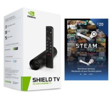 NVIDIA SHIELD TV 4K Media Streaming Device & Steam £20 Wallet Card Bundle