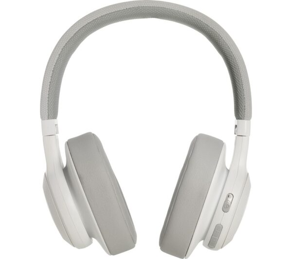 JBL E55BT Wireless Bluetooth Headphones - White, White