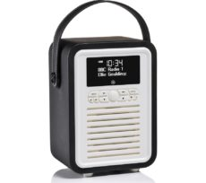 Viewquest Retro Mini VQ-MINI-BK Portable Bluetooth DAB Radio - Black, Black