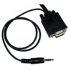 1m VGA plus Audio Cable HD15 3.5mm
