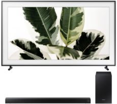 "55"" SAMSUNG The Frame QE55LS03 Smart 4K Ultra HD HDR QLED TV with Bixby & HW-R550 2.1 Wireless Sound Bar Bundle"