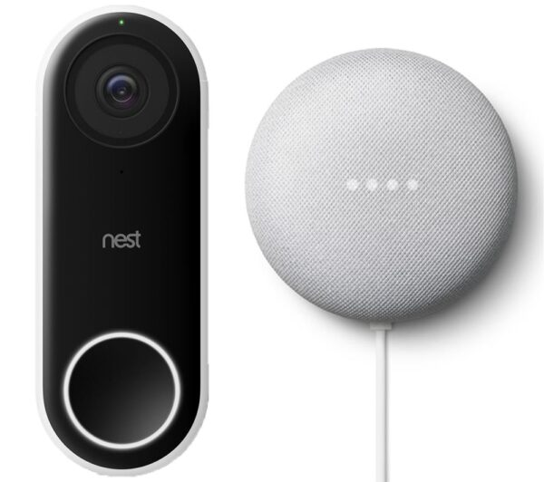 GOOGLE Nest Hello Video Doorbell & Nest Mini (2nd Gen) Bundle