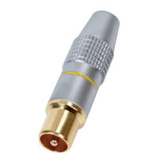 TV Aerial Plug HQ Gold Plated Connector Metal Body